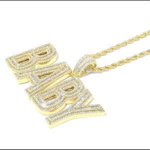 Other - Gold Finish Lab Diamond Custom BABY Charm Chain